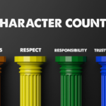 The Six Pillars of Character: trustworthiness, respect, responsibility, fairness, caring and citizenship, give us an easy guide to follow to be a good sportsman.
