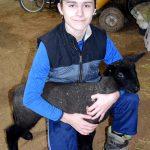 4-H member with 3-week old lamb